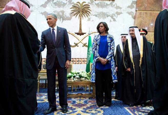 Barack Obama, Salman bin Abdul Aziz, Michelle Obama